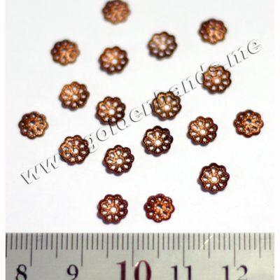 Шапочка для бусин медь 6 мм (АРТ: 7.1-С-001), 10 шт