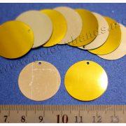 Паетка ОКРУЖНОСТЬ золото и серебро 25 мм, 2 шт