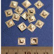 Паетка ЗАКЛЁПКА квадратная, серебро, 8 мм, 5 шт