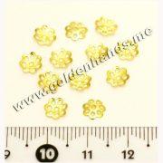 Шапочка для бусин золото 6 мм, 10 шт