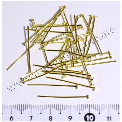 Пин-гвоздик золото 25 мм (Арт: 7.6-Пин-04), 10 шт