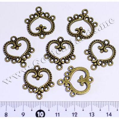 Декоративная рамка-держатель (5 колец) бронза