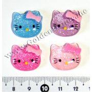 Камея Hello Kitty с блёстками 2 см
