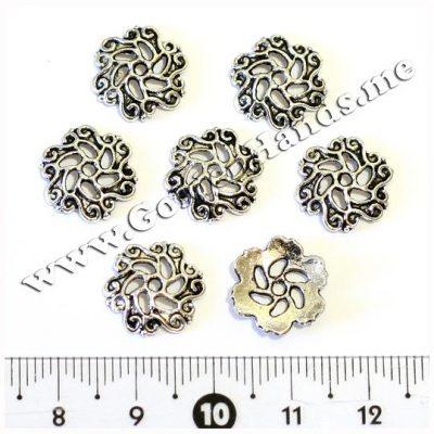 Шапочка для бусин, серебро 13 мм (Арт: 7.1-С-012), 1 шт