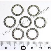 Колечко с сердечками, серебро (Арт: 7.6-05) 15 мм, 1 шт