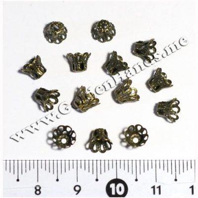 Шапочка для бусин, бронза 7 мм (Арт: 7.1-С-010), 5 шт