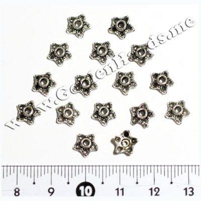 Шапочка для бусин, серебро 7 мм (Арт: 7.1-С-013), 1 шт