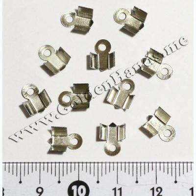 Концевик нахлёст, серебро (Арт: 7.5-03), 9 мм, 2 шт