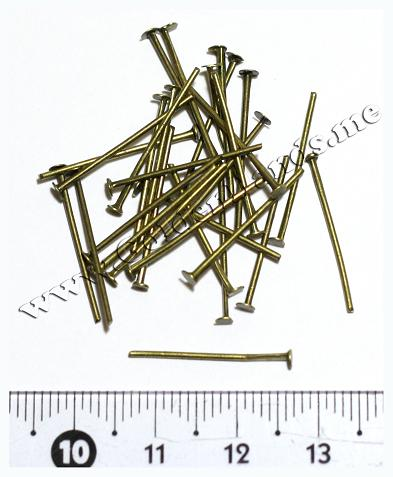 Пин-гвоздик, бронза 2 см (Арт: 7.6-Пин-10), 10 шт