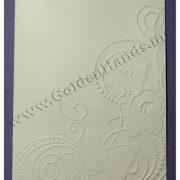 Заготовка для открытки БАБОЧКИ 250g (10х14 см) белая