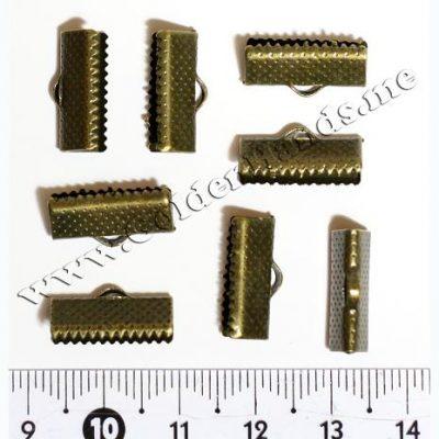 Концевик-зажим для лент, бронза 16 мм, 2 шт