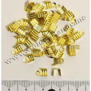Концевик-зажим для лент, золото 7х4 мм, 2 шт