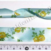 Лента атласная 25 мм с цветочками