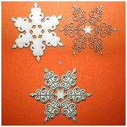 Снежинка ажурная (2 элемента)
