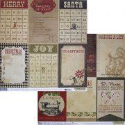 Бумага Simple Stories серия 25 Days of Christmas, мотив 1712