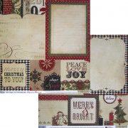 Бумага Simple Stories серия 25 Days of Christmas, мотив 1713