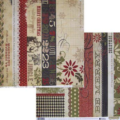 Бумага Simple Stories серия 25 Days of Christmas, мотив 1714