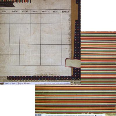 Бумага Simple Stories серия Year-o-graphy, мотив 1907