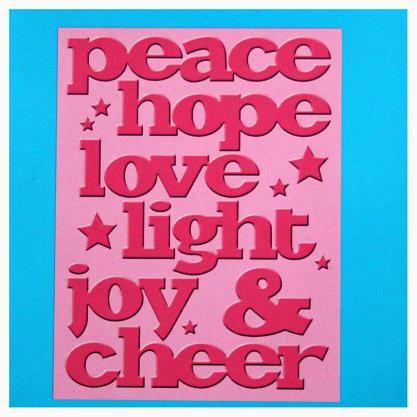 Подложка тиснение Joy&Cheer