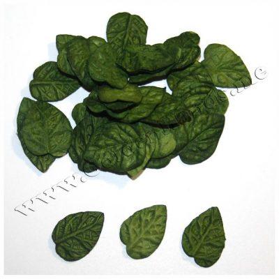 Лист зелёный малый 20х15 мм без стебля