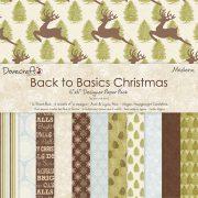 Бумага Dovecraft односторонняя 15х15 см  Back To Basics Christmas