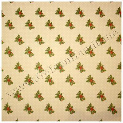 Бумага Dovecraft односторонняя 30х30 см  Back To Basics Christmas Traditional