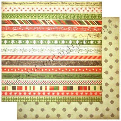Бумага ScrapBerry двухсторонняя 30х30 см коллекция Christmas Carol