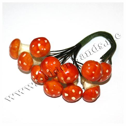 Мухоморчики 18 мм оранжевые на проволоке