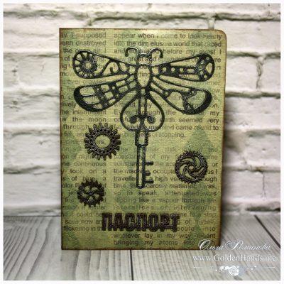 Обложка на паспорт «Механические сны» СТРЕКОЗА