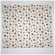 Ткань (отрез) 25х32 см РОЗЫ и горошек розовый