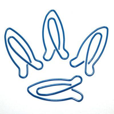 Скрепка декоративная РАКЕТА, синяя