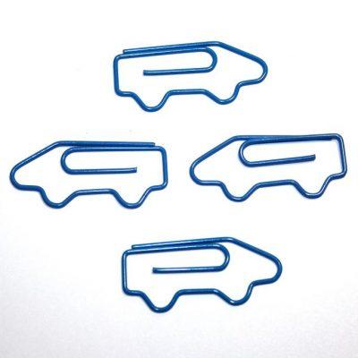 Скрепка декоративная МАШИНА, синяя