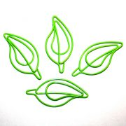 Скрепка декоративная ЛИСТИК, салатовый