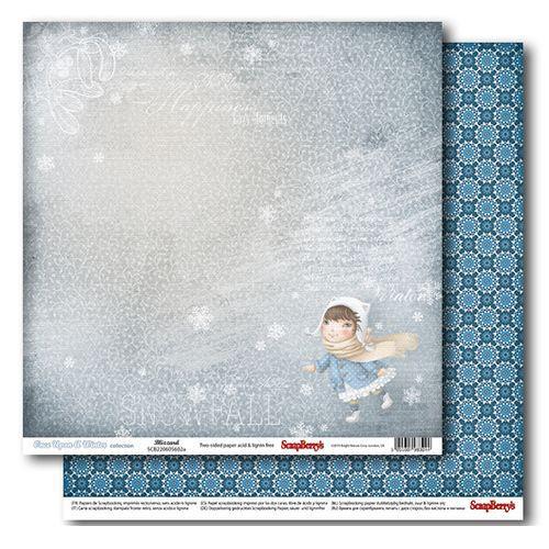 Бумага ScrapBerry ОДНАЖДЫ ЗИМОЙ «Снег кружится»