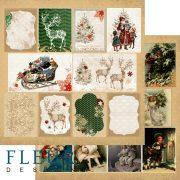 Бумага Fleur Design двухсторонняя, ОЖИДАНИЕ ПРАЗДНИКА, карточки