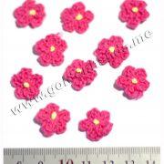 Цветок вязаный ФУКСИЯ 1,5 см