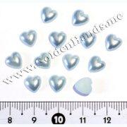 Половинки сердечек 8 мм, 5 шт