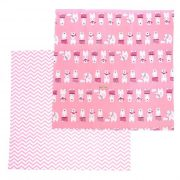 Ткань (2 отреза) 50х50 Умка (розовый)