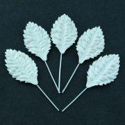 Лист белый на стебеле 3 см