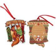 Декоративный шильдик на подарок «Новогоднее веселье»