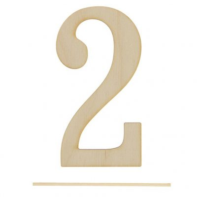 Топпер цифра «2»