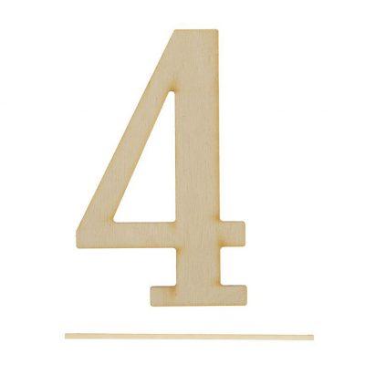Топпер цифра «4»