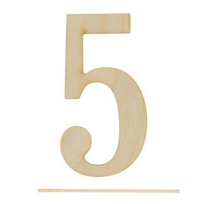 Топпер цифра «5»