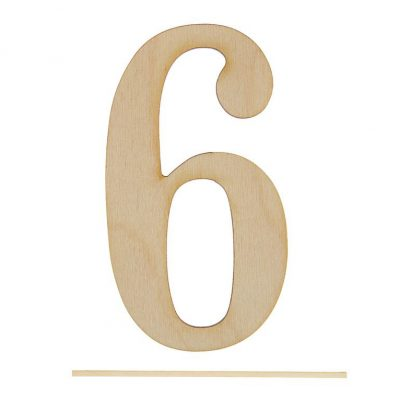 Топпер цифра «6»