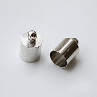 Концевик для шнура 6 мм, серебро