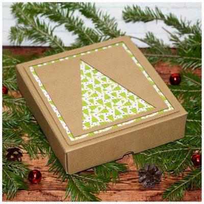 Коробка подарочная новогодняя 16,5*17,5*4 см №6