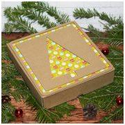 Коробка подарочная новогодняя 16,5*17,5*4 см №5