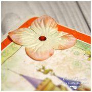 Обложка на паспорт оранжевая ПРИНЦЕССА