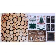 Бумага двухсторонняя 30х30 см «Новогоднее Шале»