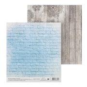Бумага АртУзор двухсторонняя 15х15 см На фоне зимы